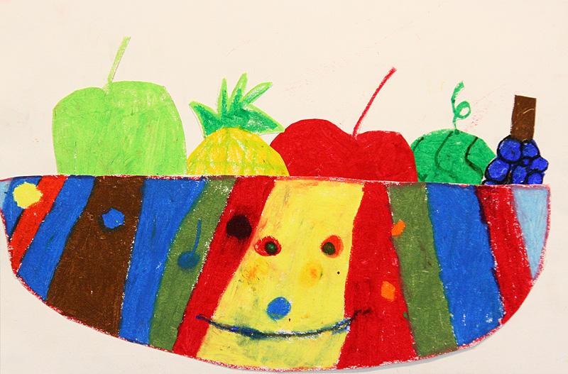 卡通水果图画大全 空卡通水果篮简笔画